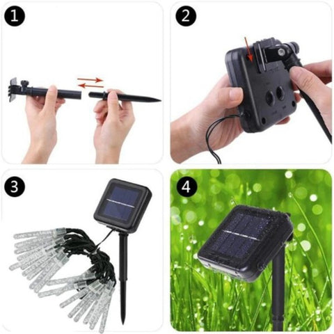 water drop solar light string