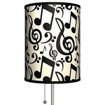 Musical Notes Standing Silver Lamp desk lamp Glicah