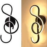 Musical Note LED Wall Light exquisite music symbol shape bedside lamps, recording studio lights, music room lamps, music room decor. home decor. music lights, music lamp