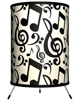 "Musical Notes Tripod Lamp, 8"" x 8"" x 14"" table lamp desk lamp Glicha"