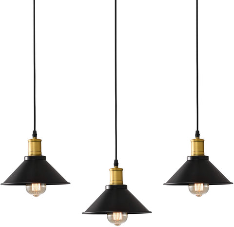 Packs of 3, Industrial Rubbed Bronze Pendant Light