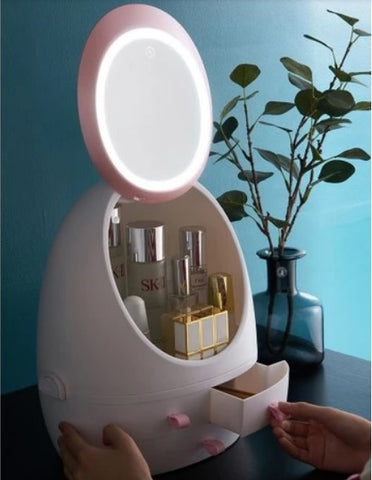 White Makeup Organizer Mirror LED Light for girlsroom girls bedroom Christmas gift gift for her gift for sister mothersday gift