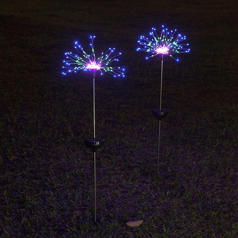 90/150 LED solar light outdoor waterproof eight function flash string lights lawn fireworks lamp garden Christmas holiday decor