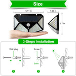 100 LED Solar Lamp 4 Sides Motion Sensor