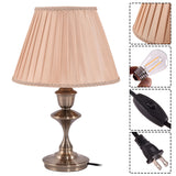 "13"" Antique Brass LED Bulb Table Lamp  Sec. Ver."