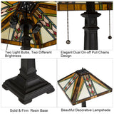 "16"" Glass Lampshade Tiffany Style Table Lamp"