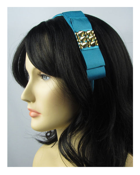 Ladies bow headband w/spikes