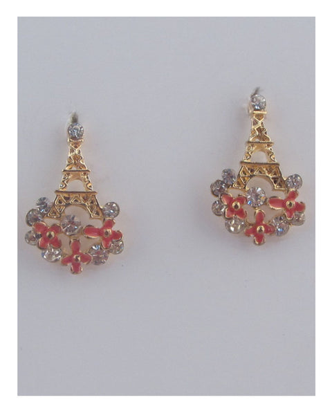 Flower tower earrings