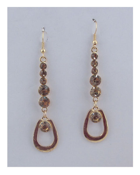 Drop rhinestone earrings