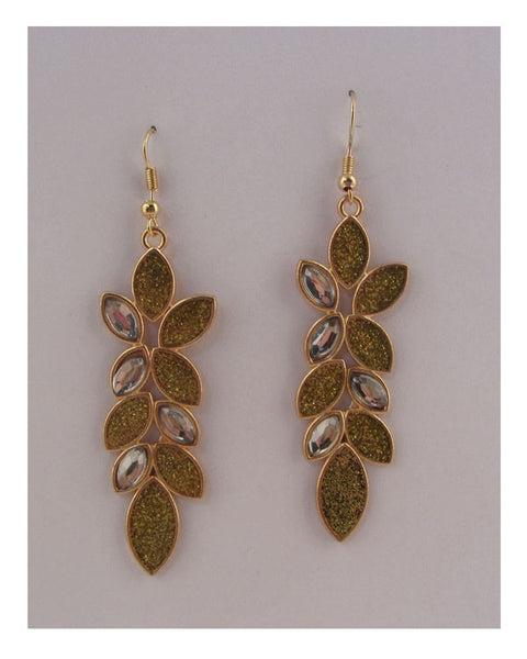 Drop leaf earrings