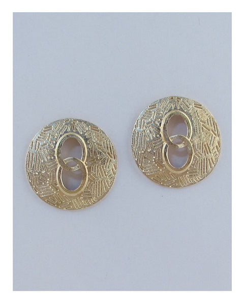 Circle cut out earrings