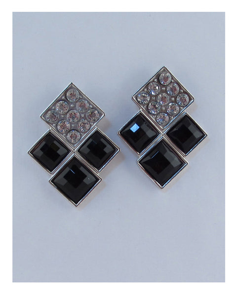 Layered square earrings