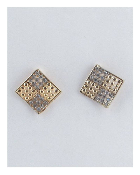 Four square diamond shape earrings