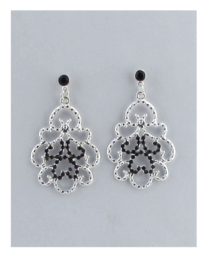 Cut out abstract design hook earrings