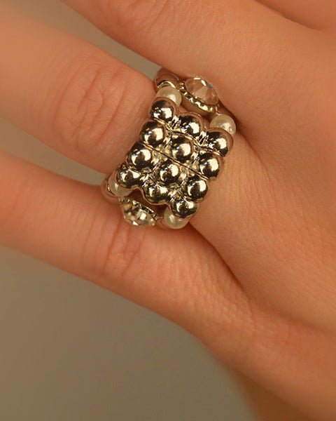 Layered Ring In Two Tones