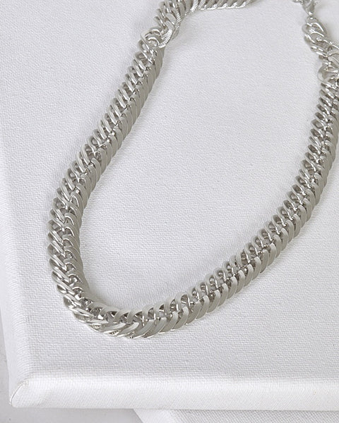 Plain and Textured Wheat Link Chain Necklace id.31477