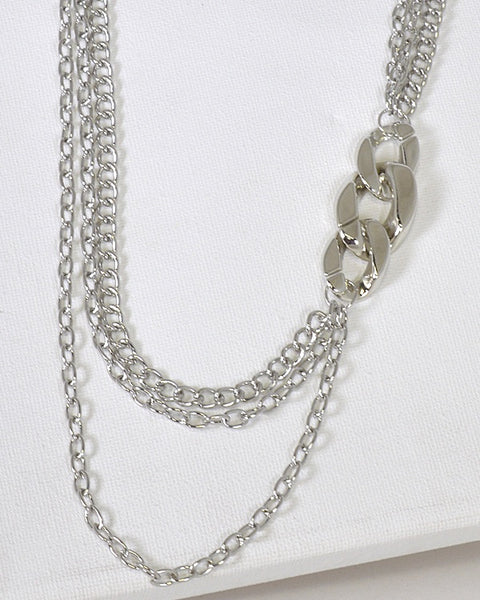 Multiple Layer Metal Embellished Boat Necklace id.31570