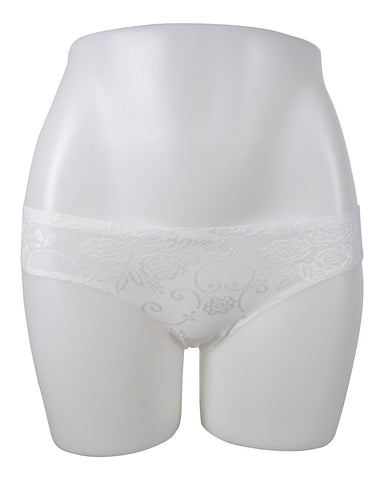 LADIES NO SHOW FLOWER LACE BIKINI PANTY