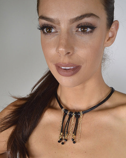 Multiple Strand Fringe Necklace