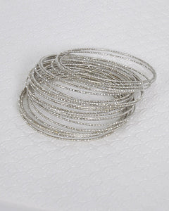 Textured Metallic Bangles