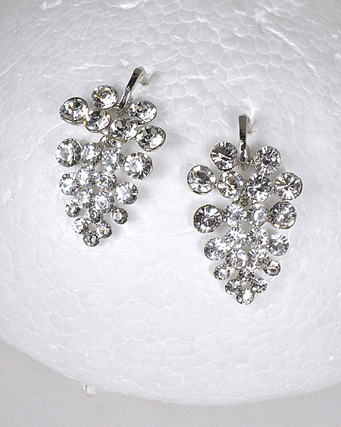 Rhinestone Drop Stud Earrings