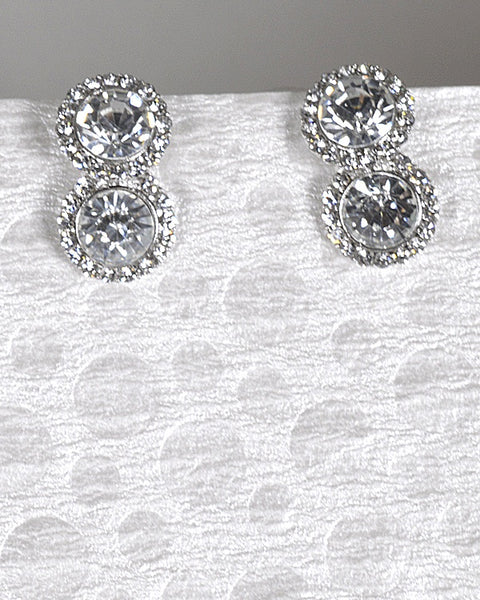 Rhinestone and Crystal Embellished Drop Earrings