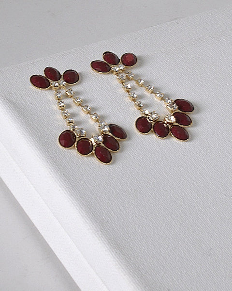 Rhinestone Crystal and Stone Embellished Danglers
