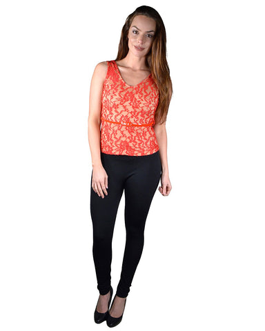 Floral Pattern Embellished Top (Belt not Included)
