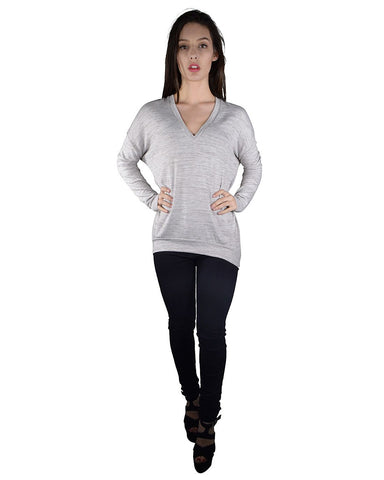 Full Sleeves Textured V-Neckline Sweater