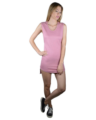 Solid High Low Hem Bodycon Dress