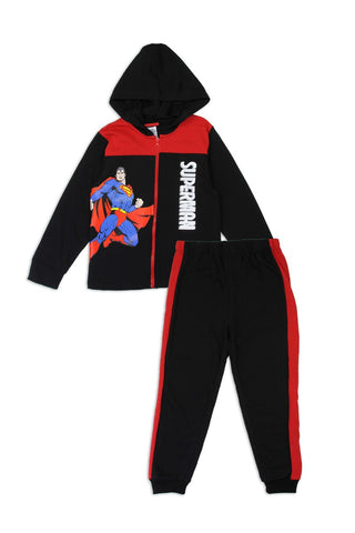 Boys superman 4-7 2-piece zip-up fleece set