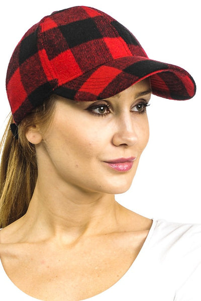 Buffalo check baseball hat