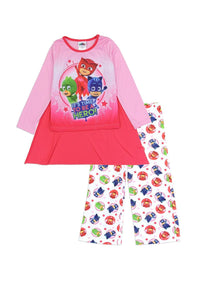 Girls pj masks 4-8 2pc pajama set w/ cape