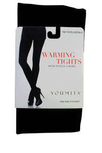 Ladies warming tights with fleece lining