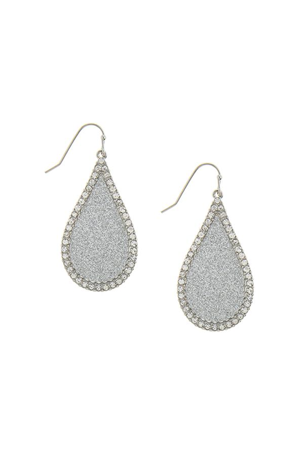 Rope outlined hexagon drop earrings