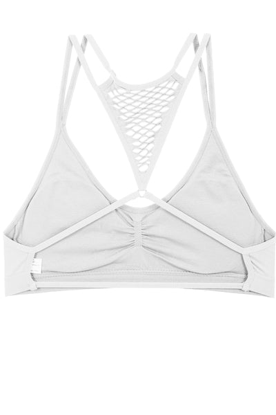 Ladies removable pads cage style back