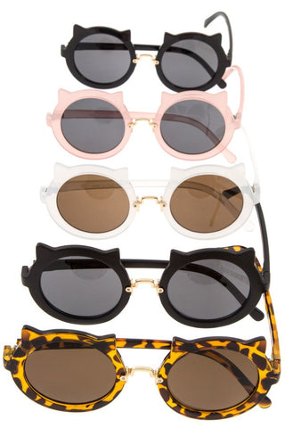 Kitty framed round lens sunglasses