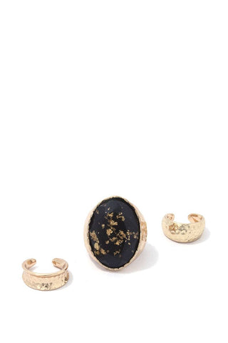 Oval Shape Stretch Ring Set