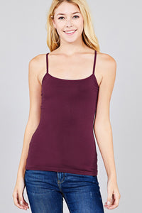 Cropped Cami Tank W/ Adjustable Spaghetti Straps