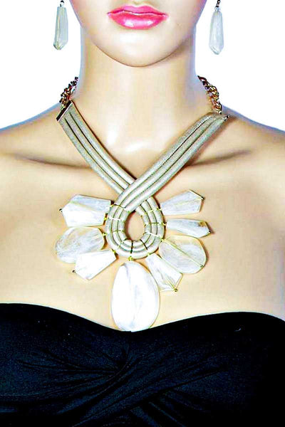 Milky Stone Necklace