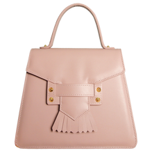 Beauty in Pink:  Fringed Clasp Handbag