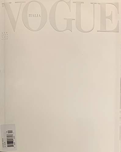 VOGUE ITALIA MAGAZINE - APRIL 2020 - SPECIAL BLACK AND WHITE COVER