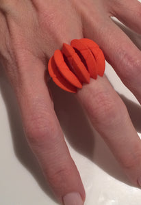 Constellation Ring | Lunar Moon COLOR|CODE | Orange - Vancelette Global Art Acquisitions