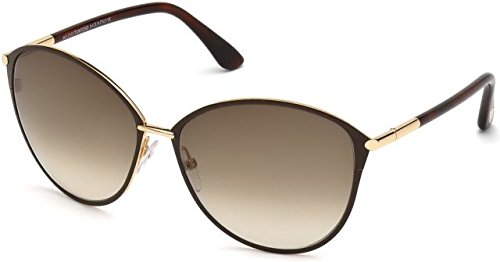 Tom Ford Sunglasses Women TF 320 Brown 28F Penelope 59mm - Vancelette Global Art Acquisitions