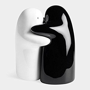 Hug Salt and Pepper Shakers Designed by Alberto Mantilla for MoMA