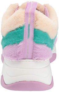 Katy Perry Women's The Fuzz Sneaker, Turquoise./Nude, 7 M M US