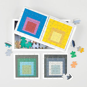 Galison Josef Albers Wooden Puzzle Jigsaw (150 Piece) - Coffee Table Gift