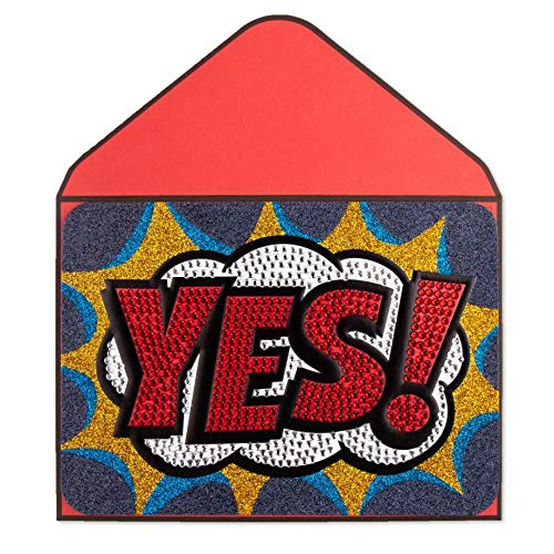Papyrus Big Yes Blank Card by Judith Leiber - Vancelette Global Art Acquisitions