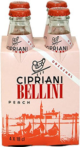 Cipriani Food Peach Bellini Mix - 6.09 Fluid Ounce - 4 Glass Bottles (1 Pack) - Vancelette Global Art Acquisitions