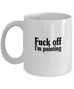 Painter Im Painting Coffee & Tea Gift Mug Printed On Both Sides - Vancelette Global Art Acquisitions